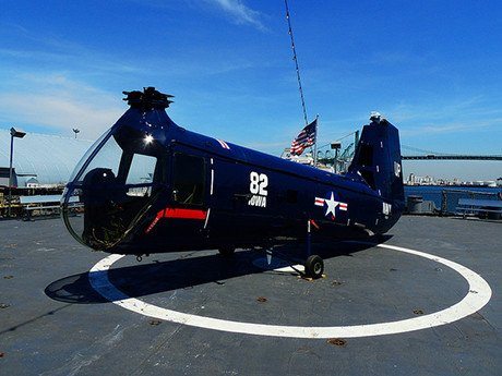 Battleship IOWA Museum Los Angeles HUP Helicopter aviation exhibit and virtual reality