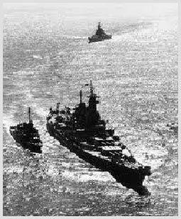 Battleship IOWA in Tokyo Bay World War II