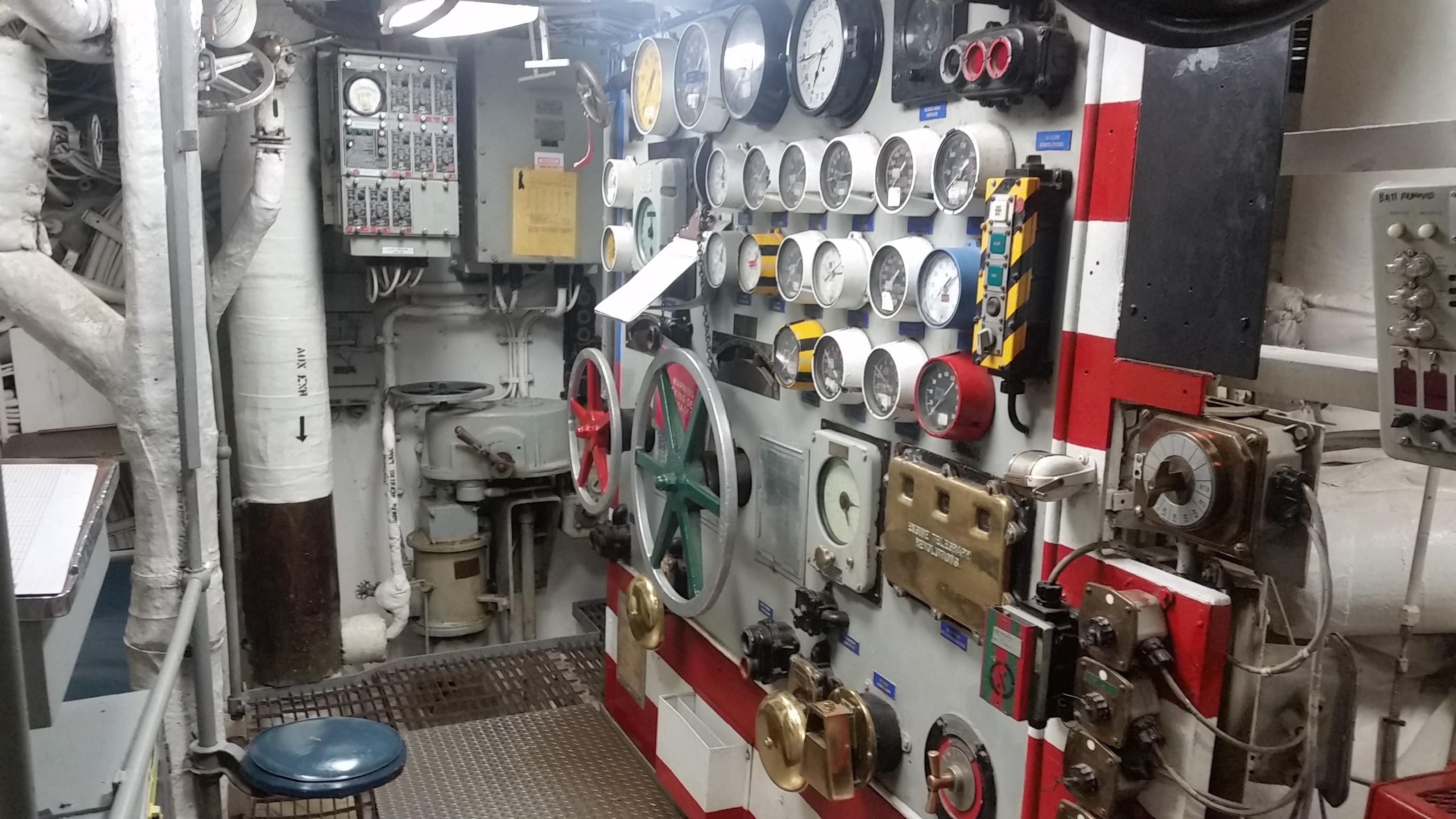 Battleship IOWA Museum Los Angeles engineering space
