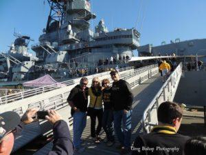 Battleship IOWA visited by Iowa St fans
