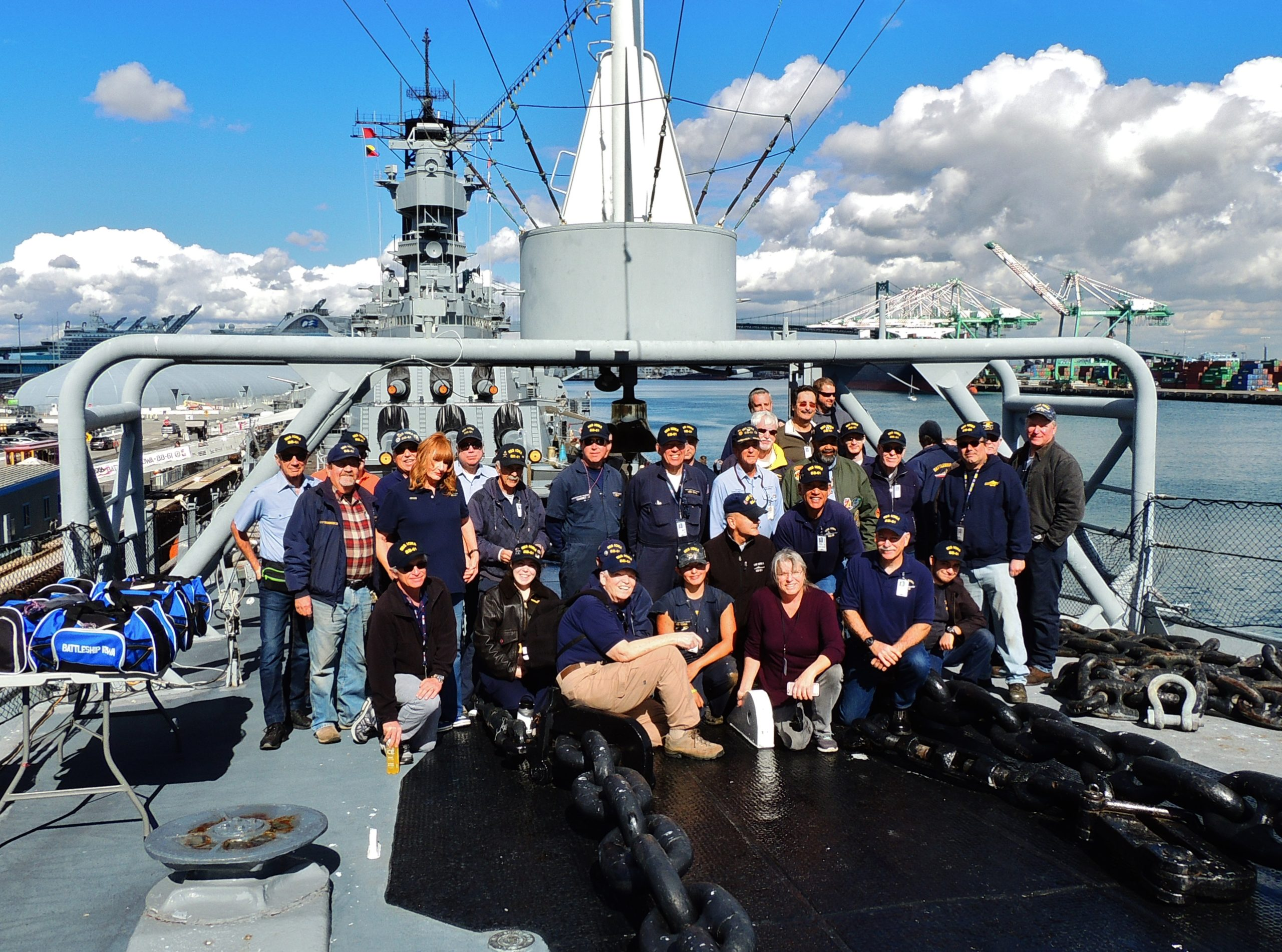 Battleship IOWA volunteers