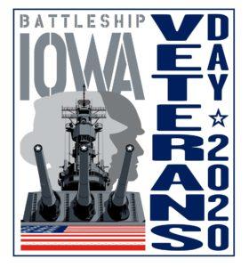 veterans day 2020 at battleship iowa