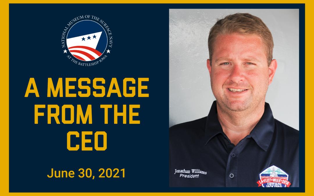 CEO Update June 30, 2021
