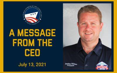 CEO Update July 13, 2021